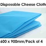 Desechables gamuza de queso 4hojas x 900mm x 600mm), color azul
