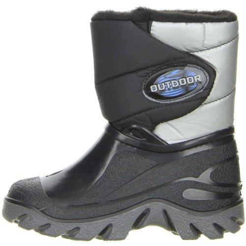 ConWay Kinder Jungen Winterstiefel Snowboots schwarz Grau