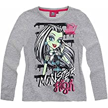 Monster High Fille Tee-shirt manches longues - gris