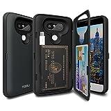 TORU CX Pro LG G5 Hülle Kartenfach mit Verstecktes Ausweis-Slot Kreditkartenhalter, USB Adapter und Spiegel für LG G5 - Dunkelblau
