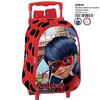 51quGfcRX6L. SS324  - Ladybug Amour Mochila Infantil con Carro Fijo Ruedas.