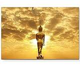Eau Zone Wandbild auf Leinwand 120x80cm goldener Buddha in Thailand
