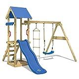 WICKEY Spielturm TinyCabin Kletterturm Spielplatz mit Schaukel und Rutsche, Sandkasten und Strickleiter