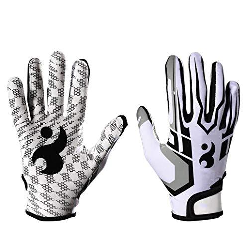 WSWJJXB Sporthandschuhe Bequeme, atmungsaktive Rutschfeste Silikon-Baseballhandschuhe (Farbe : Weiß, größe : M)