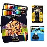 Crayons de couleur Prismacolor Premier Set qualité Art–Lot de 48, Premier crayon taille-crayon 1Pack et sans latex Gomme Scholar 1Pack