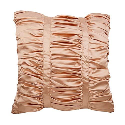 The HomeCentric Entwerfer Beige Euro-Schein-Abdeckungen, 65x65 cm Euro-Schein, Strukturierter Biesen Solid Color Euro Shams, Satin Euro-Schein-Abdeckungen, Gestreift Modern Euro Shams - Lush -