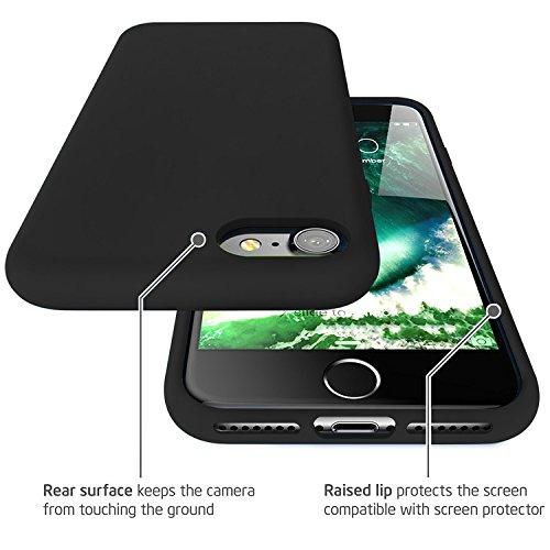 "First2savvv iPhone 7 4.7. iPhone 8 4.7 "" Stoßdämpfende Hülle Case Schutzhülle Silikon Case Durchsichtig iphone 7 -XJPJ-I7-4.7-C02 schwarz Silikon Hülle-4.7"