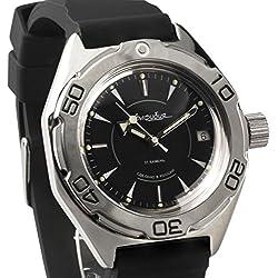 Vostok #670923 Classic Amphibian Mechanical Automatic Russian Wrist Watch 2416B Movement Resin Strap