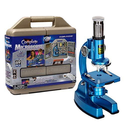 Tosbess Microscopios Juguete Microscopio Optico 100X-1200X Juguete Científico y Educativo con experimentos para niños