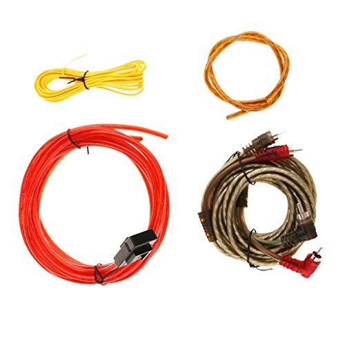 Baoblaze Câble d'alimentation pour Kit Voiture Subwoofer Audio AMP RCA Câblage Amplificateur - #2