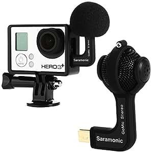 Saramonic GoMic Mini Boule Microphone Stéréo + Étui de Protection pour GoPro Hero 3, GoPro Hero 3 + et GoPro Hero 4 TV058