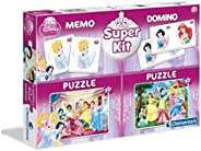 clementoni - puzzle 2x30 memo ,domino princess , 3 Years & A