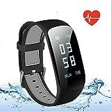 OMORC Bracelet Connecté Sport Cardiofréquencemètre Smartwatch Bluetooth 4.0 Montre GPS Etanche IP67 Tracker d'activité Podomètre