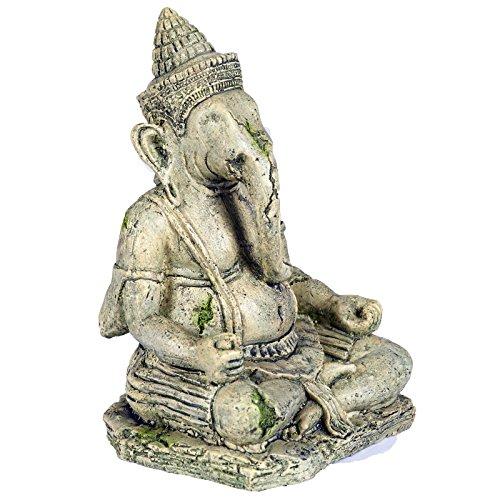 Pet Ting Ancient Statue der Gottheit Ganesha Aquatic–Aquarium Dekoration Ornament–Vivarium Dekoration (Pet Products Ornament)
