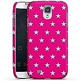 Samsung Galaxy S4 Hülle Premium Case Schutz Cover Stern Pink Muster