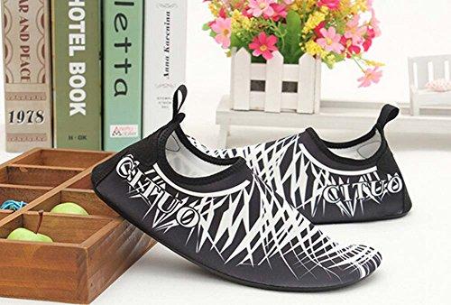 Chaussures de Sport Chaussures Eau Treadmill Chaussures de Randonnée Chaussures de Yoga Doux blanc