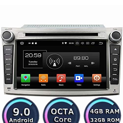 ROADYAKO 64GB 7Inch Android 8.0 für Subaru Legacy/Outback 2009 2010 2011 Auto-Radio-Stereo mit GPS Navigation 3G WiFi Spiegellink RDS FM AM Bluetooth AUX Outback Radio
