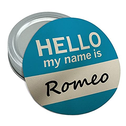 Romeo Hello My Name Is Round Rubber Non-Slip Jar Gripper Lid Opener