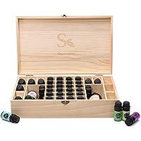 Skymore Aromatherapie ätherisches Öl Holz Aufbewahrung Geschenk-Box (passend für 36 Flaschen) preisvergleich bei billige-tabletten.eu