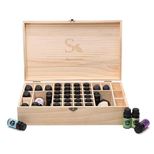 36 Öl (Skymore Aromatherapie ätherisches Öl Holz Aufbewahrung Geschenk-Box (passend für 36 Flaschen))