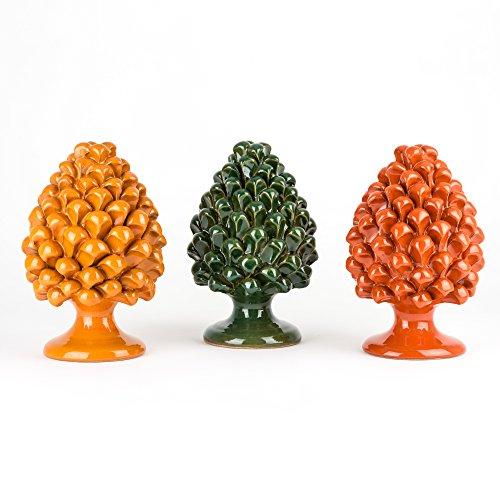 Zoom IMG-3 pigna ornamentale h cm 20