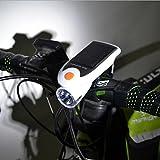 CHEZAI Solar-Bike-Scheinwerfer USB-Wiederaufladbare Fahrrad-Lichter, White
