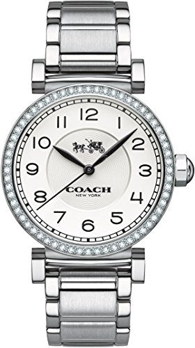 Coach 14502396 Ladies Madison Fashion Silver Steel Bracelet Watch