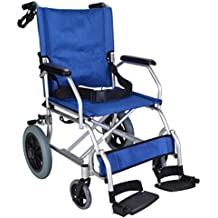 Elite Care EC1863 - Silla de rueda plegable, azul