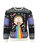 Rick and Morty Christmas Jumper Rainbow