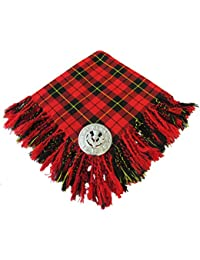Tartanista - Fly plaid pour kilt - broche motif chardon - 5 tartans disponibles