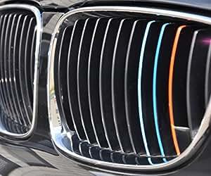 Autocollants pour calandre - BMW - Bleu clair / Bleu Foncé / Rouge
