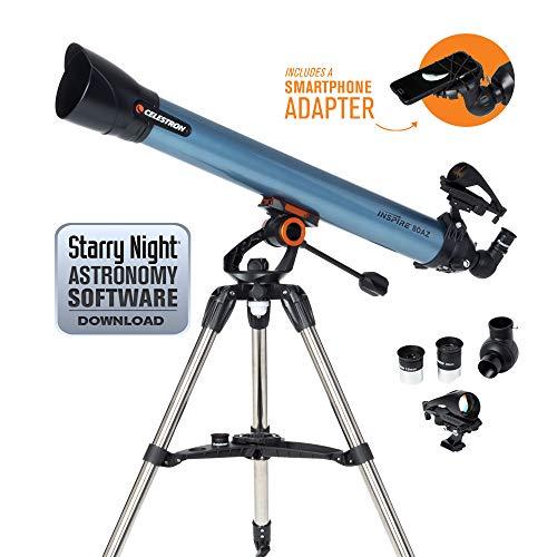 Celestron Inspire - Telescopio astronómico 80 mm