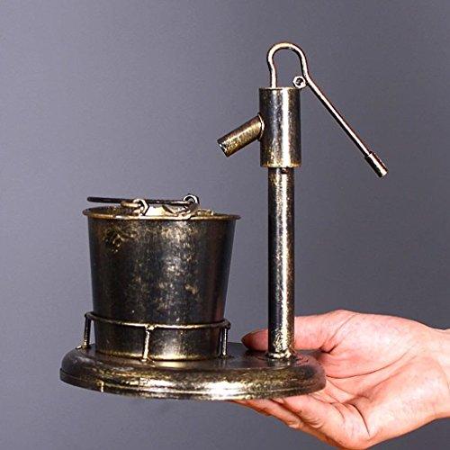 CS Aschenbecher Retro Eisen Wasserhahn Rauchen Werkzeug im Wohnzimmer Retro Ornamente ( Color : A ) - Boden Stehendes Glas