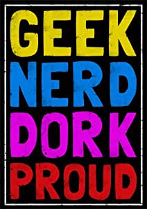 Geek Poster, Geek chic poster, A3 Poster 29.7cm x 42cm, unframed, bedroom poster, retro poster