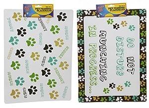 Lot de 2sets de table Motif Gamelle pour chien 2designs disponibles