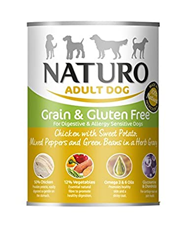Naturo Adult Dog Chicken/Grain and Gluten Free Cans, 390 g(Pack of 12)