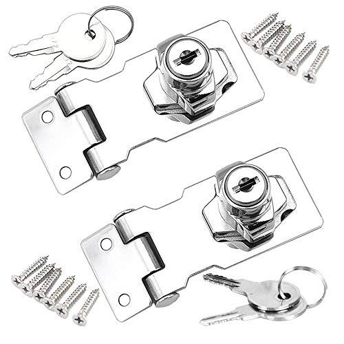 Schublade Schlossschlösser Vorhängeschloss Überfalle Lock Cam Lock Tor Riegel Schloss mit Schrauben für Möbel Schrank Mailbox Schublade Schrank Closet (2,5 Zoll) (2 Stück) -