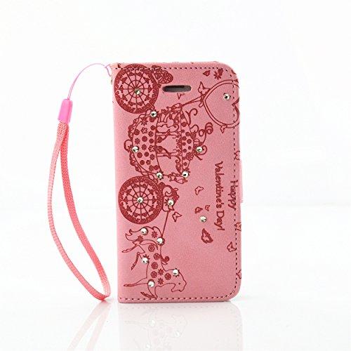 Voguecase® für Apple iPhone 6/6S 4.7 hülle,(Feder/Grau) Kunstleder Tasche PU Schutzhülle Tasche Leder Brieftasche Hülle Case Cover + Gratis Universal Eingabestift Diamant/Schlitten/Pink
