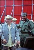 Leinwandbild 30 x 40 cm: Staatsbesuch Erich Honecker 1974 in Kuba von Klaus Morgenstern / ddrbildarchiv.de - fertiges Wandbild, Bild auf Keilrahmen, Fertigbild auf echter Leinwand, Leinwanddruck