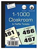 1000 Garderobe Zug Raffle Verlosung Nummeriert Tickets Buch Fetes Schule Büro