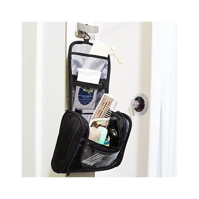 AmazonBasics Trousse de toilette à crochet de suspension