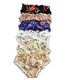 Qianya silk 6 Stück 100% Seide Damen unterwäsche Slip GR.32 34 38 42 44 46 (L)