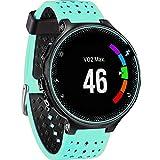 JiaMeng para Garmin Forerunner 735XT Watch2,Banda de Reloj de Repuesto de Correa de Silicona Suave(Menta Verde)