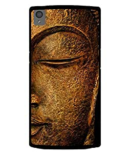 PrintVisa Designer Back Case Cover for OnePlus X :: One Plus X (Lord Gautam Buddha In Peace Metalic Copper)