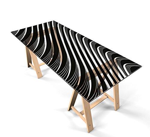 """Glastischfolie Dekofolie Klebefolie für Glastisch Schutzfolie """"Design Linien"""" selbstklebend Tischfolie Dekorfolie Tischschutz 100cm x 60cm"""