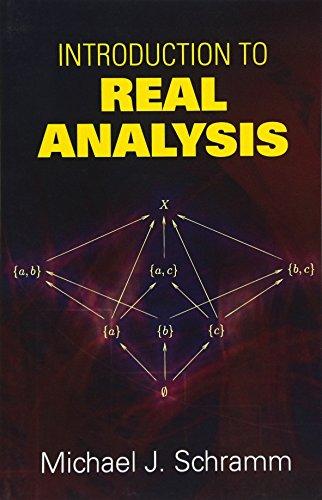 Introduction to Real Analysis (Dover Books on Mathematics) por Michael J Schramm