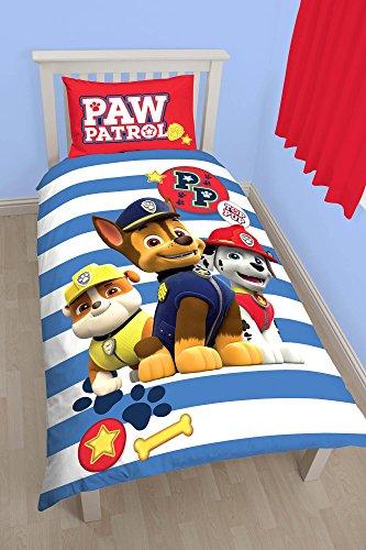 Paw Patrol Bettwäsche für Einzelbett, Motiv: Pawsome, Bett- und Kissenbezug