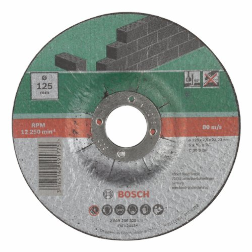 Bosch 2609256325 Cutting disc with Depressed Centre, Stone, 125 mm