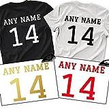 Custom Name & Number Iron On T Shirt Transfer Team Football Sports Style Vinyl