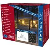 Konstsmide 4623-103 LED Hightech System Erweiterung / Lichternetz / für Außen (IP44) /  208 warm weiße Dioden / transparentes Kabel